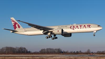 A picture of A7BAK - Boeing 7773DZ(ER) - Qatar Airways - © Jesse Vervoort