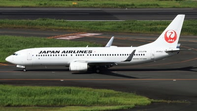 A picture of JA344J - Boeing 737846 - Japan Airlines - © NRT Spotter