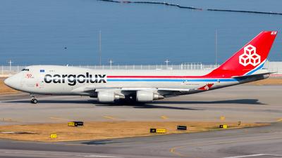 A picture of LXKCL - Boeing 7474HAF(ER) - Cargolux - © Jack Sin - HKPSA