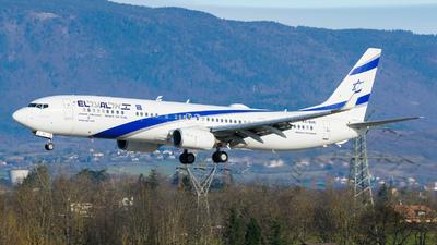 A picture of 4XEHE - Boeing 737958(ER) - El Al - © Stefan Gschwind