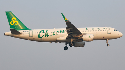 A picture of B1023 - Airbus A320214 - Spring Airlines - © Jeppesen_Tu