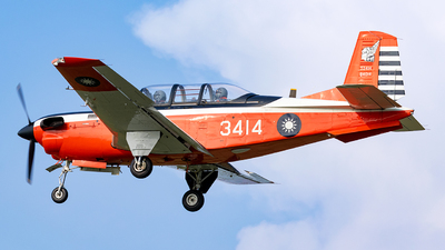 3414 - Beechcraft T-34C Turbo Mentor - Taiwan - Air Force