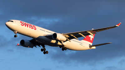 A picture of HBJHF - Airbus A330343 - Swiss - © Cary Liao