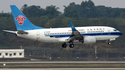 A picture of B5239 - Boeing 73771B - China Southern Airlines - © F3E1988