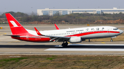 A picture of B1742 - Boeing 73786D - Shanghai Airlines - © Jerry_Hammer