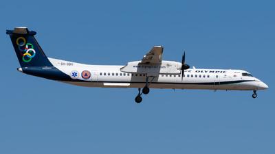 A picture of SXOBH - De Havilland Canada Dash 8400 - Olympic Air - © John Leivaditis