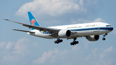 A picture of B2028 - Boeing 777F1B - China Southern Airlines - © Mingfei S