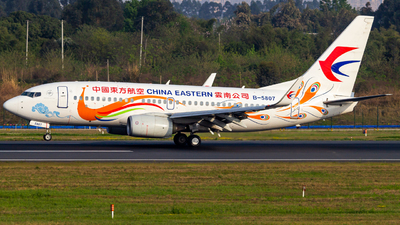 A picture of B5807 - Boeing 73779P - China Eastern Airlines - © SINO6702