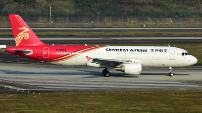 A picture of B6855 - Airbus A320214 - Shenzhen Airlines - © F3E1988