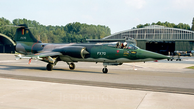 FX70 - Lockheed F-104G Starfighter - Belgium - Air Force