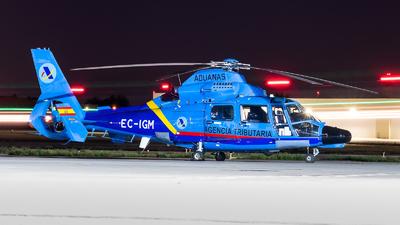 EC-IGM - Eurocopter AS 365N3 Dauphin - Spain - Customs