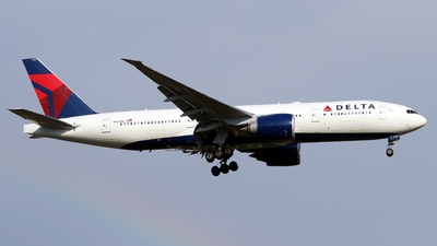 A picture of N707DN - Boeing 777232(LR) - Delta Air Lines - © Timothy Brandt