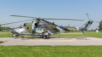 7355 - Mil Mi-24V Hind E - Czech Republic - Air Force