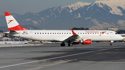 OE-LWG - Embraer 190-200LR - Austrian Airlines