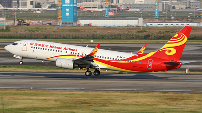 A picture of B5478 - Boeing 73784P - Hainan Airlines - © YIJING HOU