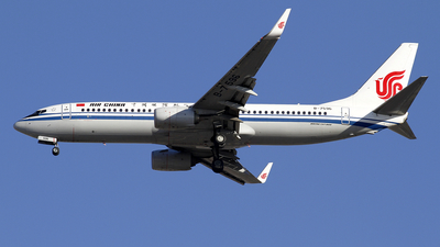 A picture of B7596 - Boeing 73789L - Air China - © wangpaul