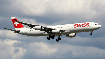 A picture of HBJMB - Airbus A340313 - Swiss - © Andriy Yegorov