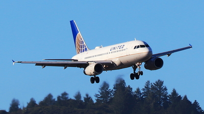 A picture of N818UA - Airbus A319131 - United Airlines - © Hongming Zheng
