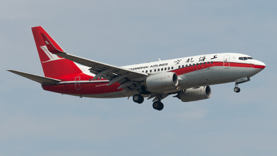 A picture of B5801 - Boeing 73776D - Shanghai Airlines - © JetblastAviation
