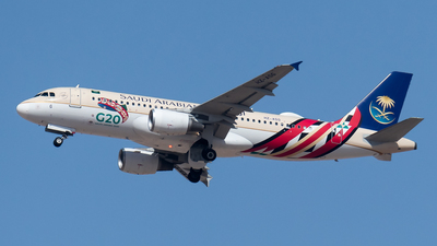 A picture of HZASG - Airbus A320214 - Saudia - © AirlinerSpotter