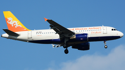 A5-RGG - Airbus A319-115 - Druk Air - Royal Bhutan Airlines