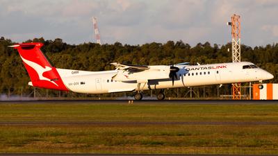 A picture of VHQOV - De Havilland Canada Dash 8400 - Qantas - © Brandon Giacomin