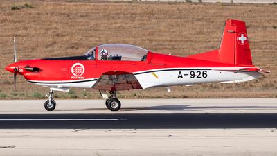 A-926 - Pilatus PC-7 - Switzerland - Air Force