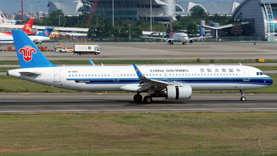 A picture of B30EX - Airbus A321253NX - China Southern Airlines - © ZGGG RWY01