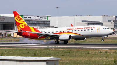 A picture of B5712 - Boeing 73784P - Hainan Airlines - © Sebastian Shen
