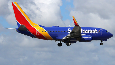 A picture of N763SW - Boeing 7377H4 - Southwest Airlines - © Xiamen Air 849 Heavy