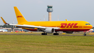 A picture of GDHLG - Boeing 7673JHF(ER) - DHL - © James Dinsdale