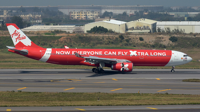 A picture of 9MXXW - Airbus A330343 - AirAsia X - © Bingolancer