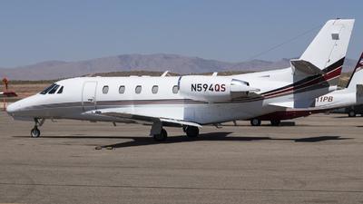 A picture of N594QS - Cessna 560XLS Citation Excel - NetJets - © David Lee
