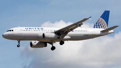 N471UA - Airbus A320-232 - United Airlines