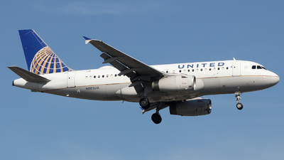 A picture of N802UA - Airbus A319131 - United Airlines - © Xiamen Air 849 Heavy