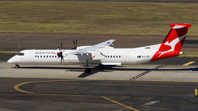 A picture of VHQOY - De Havilland Canada Dash 8400 - QantasLink - © Yohane