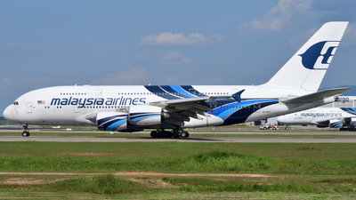 A picture of 9MMNE - Airbus A380841 - Malaysia Airlines - © flee