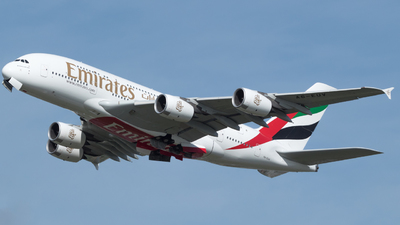 A picture of A6EUV - Airbus A380842 - Emirates - © RJL