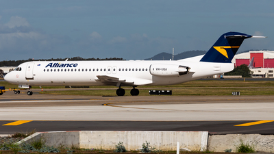 A picture of VHUQA - Fokker 100 - Alliance Airlines - © Brandon Giacomin