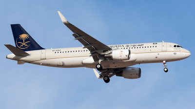 A picture of HZAS63 - Airbus A320214 - Saudia - © AirlinerSpotter