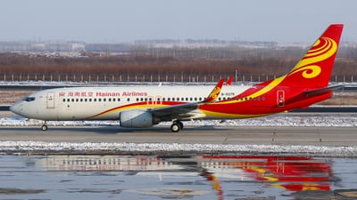 A picture of B5375 - Boeing 73784P - Hainan Airlines - © SEN BAI