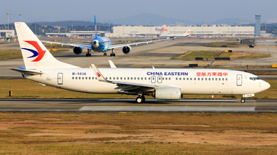 B-5838 - Boeing 737-89P - China Eastern Airlines