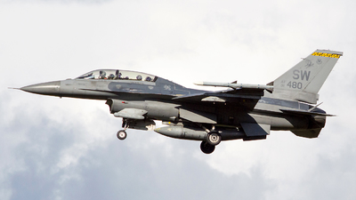 91-0480 - General Dynamics F-16D Fighting Falcon - United States - US Air Force (USAF)