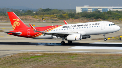 A picture of B8635 - Airbus A320232 - Shenzhen Airlines - © Xiwang