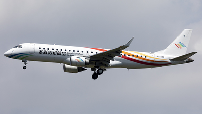A picture of B3240 - Embraer E190LR - Colorful GuiZhou Airlines - © wanghaotian