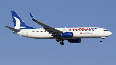 A picture of TCJFM - Boeing 7378F2 - Turkish Airlines - © Bora Polater