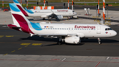 A picture of DAGWJ - Airbus A319132 - Eurowings - © Niclas Rebbelmund