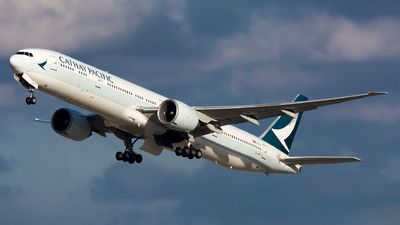 A picture of BKPP - Boeing 777367(ER) - Cathay Pacific - © Kevin Cargo