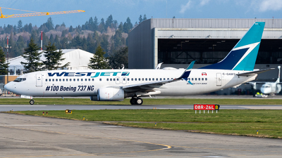 A picture of CGAWS - Boeing 7378CT - WestJet - © Nick Sheeder