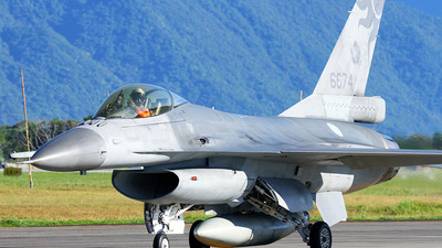 6674 - Lockheed Martin F-16A Fighting Falcon - Taiwan - Air Force